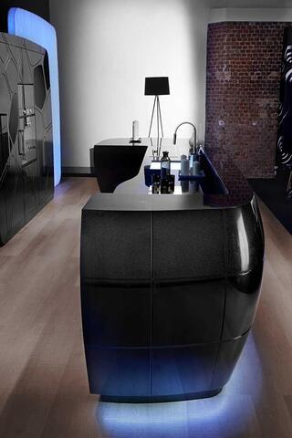 Corian Organic Deep Black Quartz